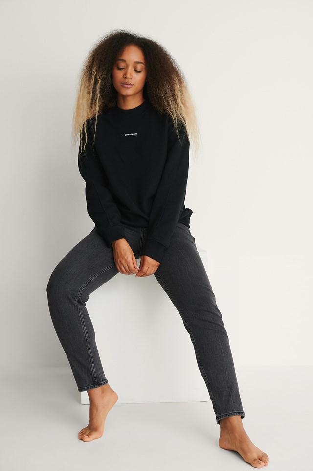 Calvin Klein oversized Micro Branding Sweater.