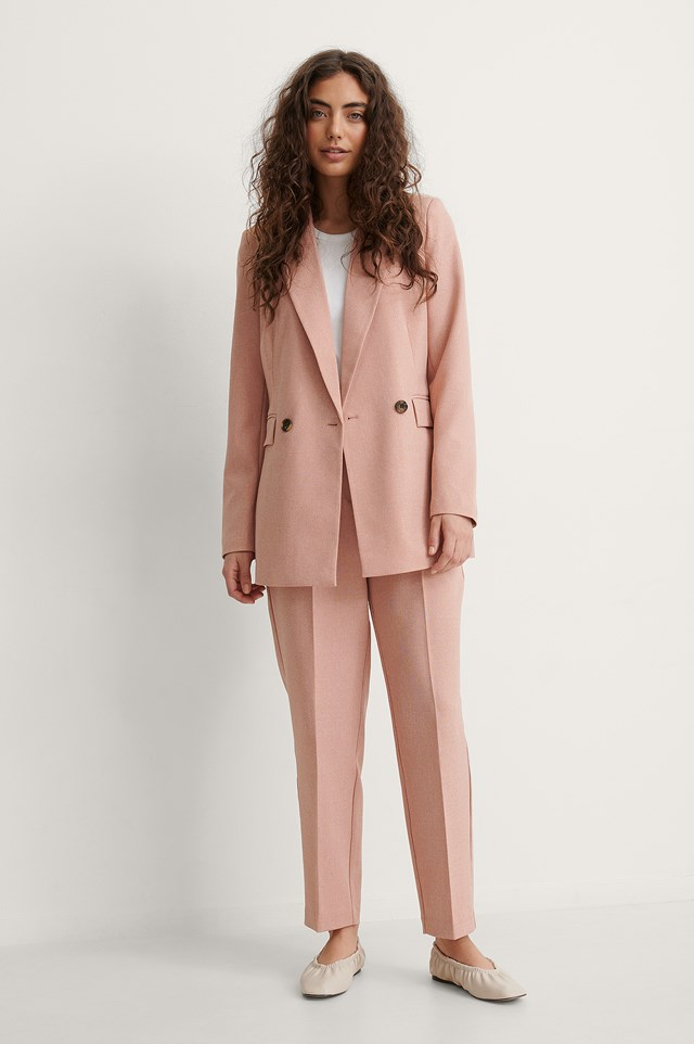 Recycled Cropped Suit Pants Outfit.