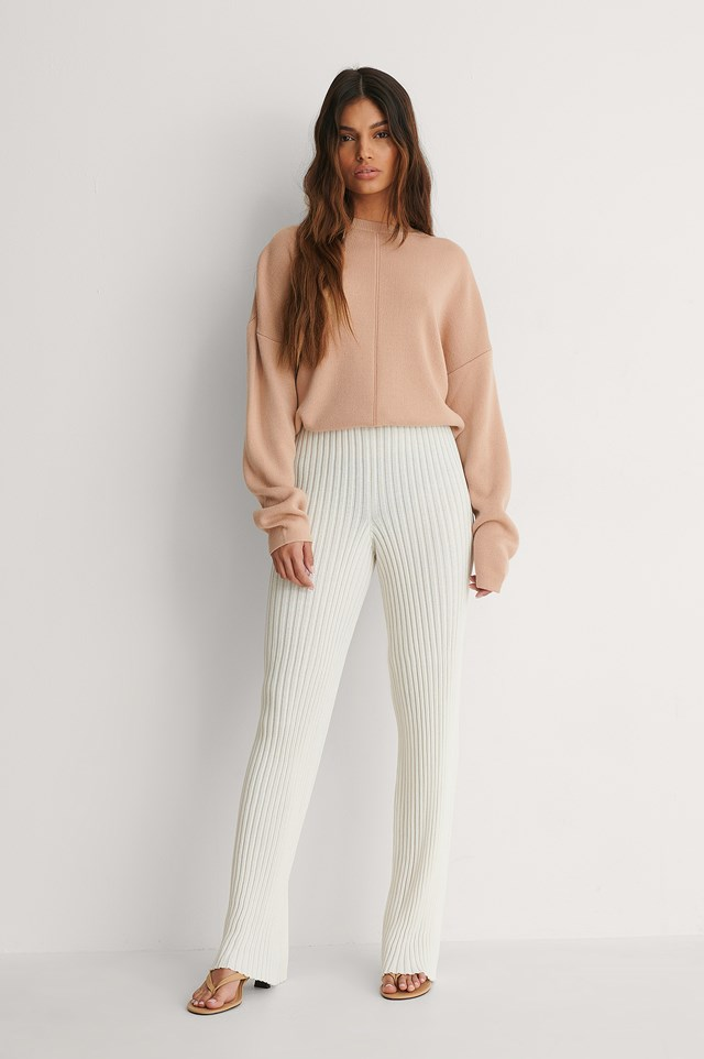Beige Knitted Top