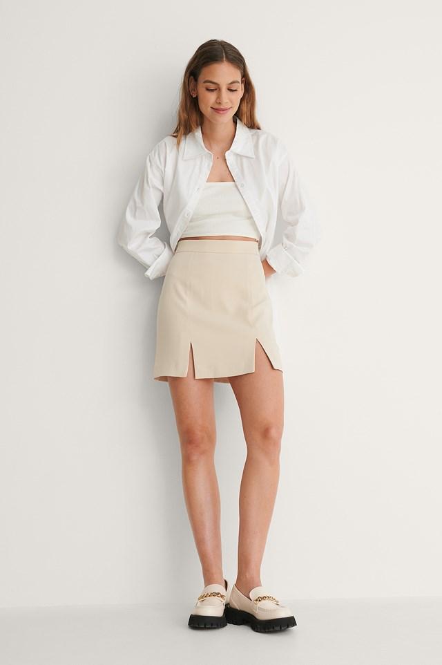 Double Slit Mini Skirt