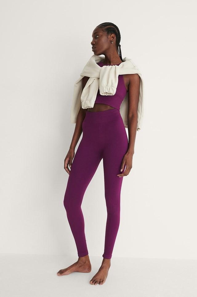Purple Seamless High Waist Leggings