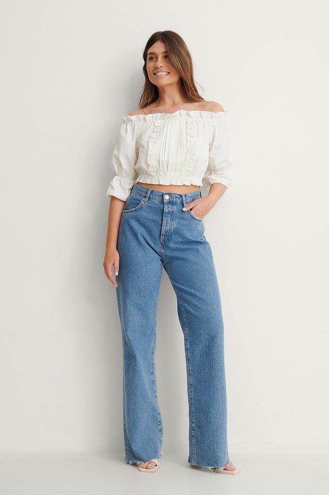Ruffle Detailed Blouse Outfit