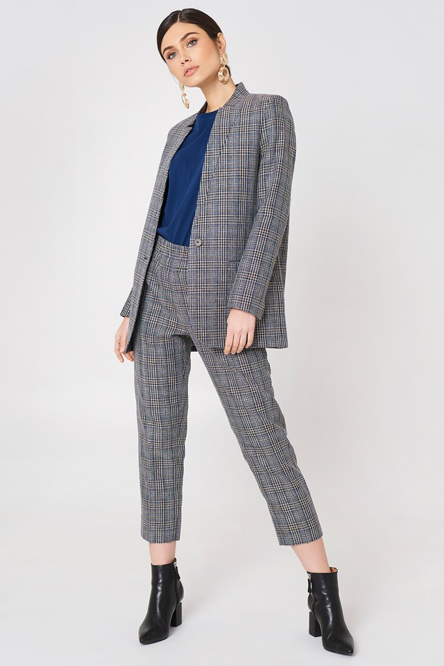 Fine Checked Suit Outfit