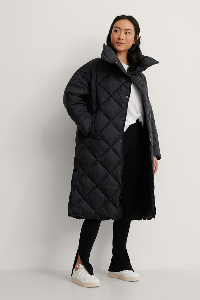 Black Croco Coat