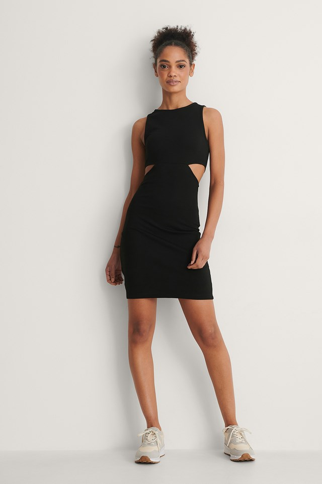 Cut Out Detail Mini Dress Outfit