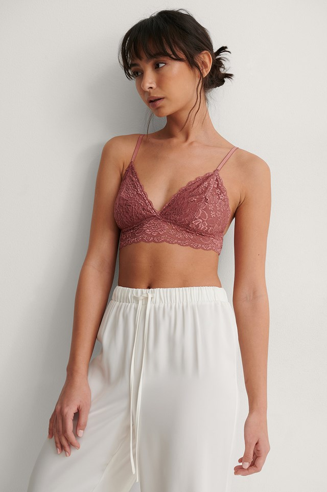 Basic Floral Lace Bra Outfit