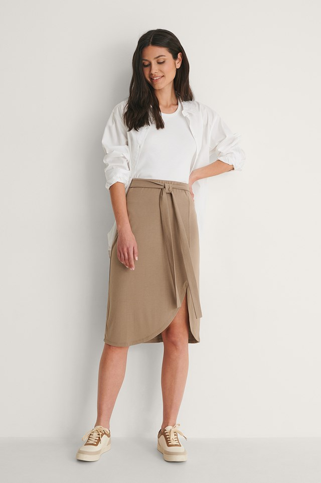 Wrap Detail Skirt Outfit