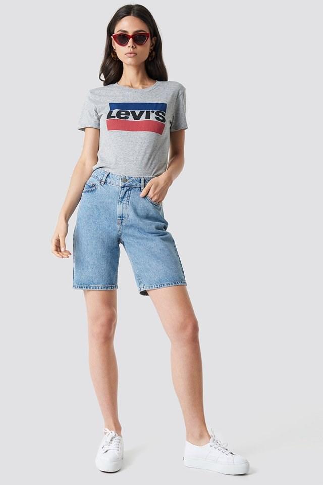 Trendy Levi's Midi Short Outfit