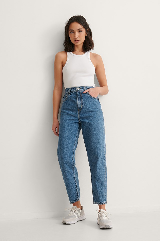Levi's High Loose Taper Jeans Outfit
