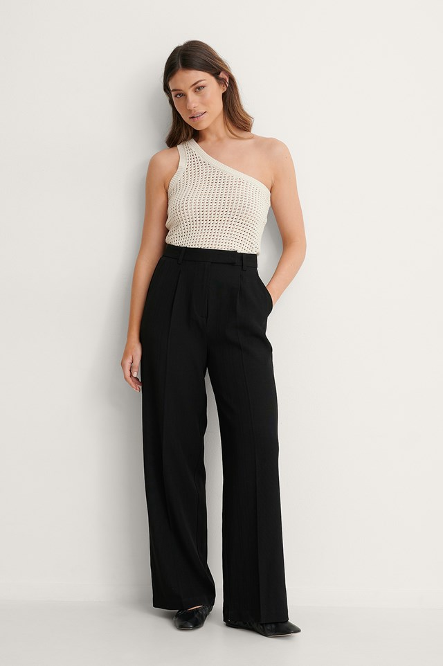 Recycled Wide Leg Pants Outfit