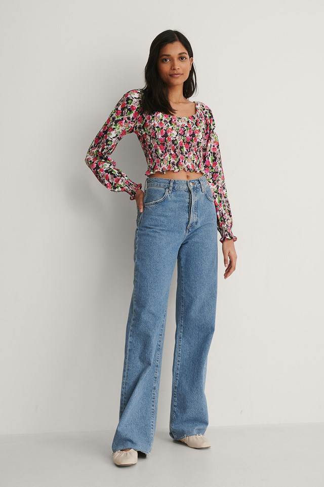 Flower Top Outfit.