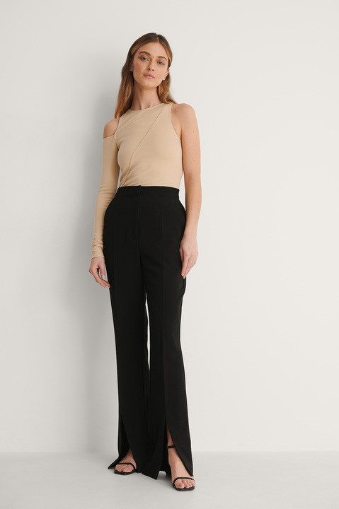 One Arm Detail Bodycon Top Outfit.