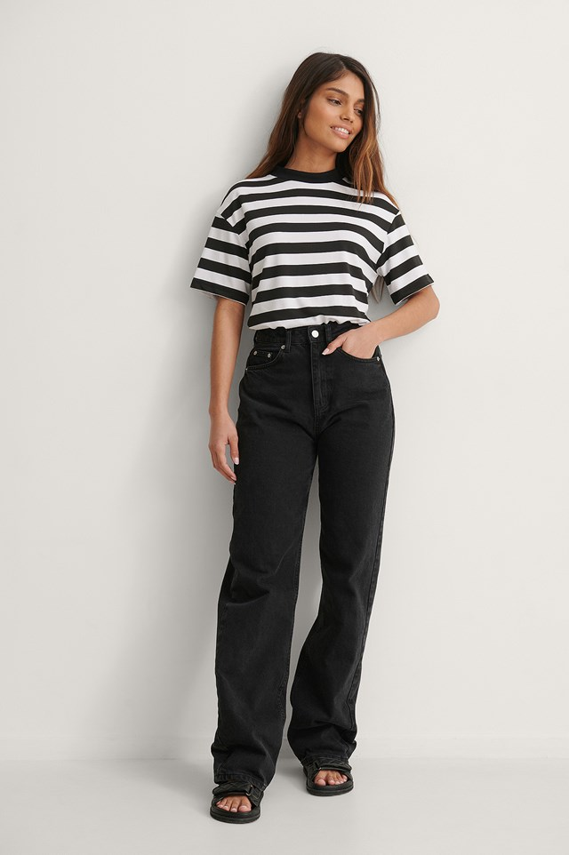 Trendyol Striped Tee Outfit