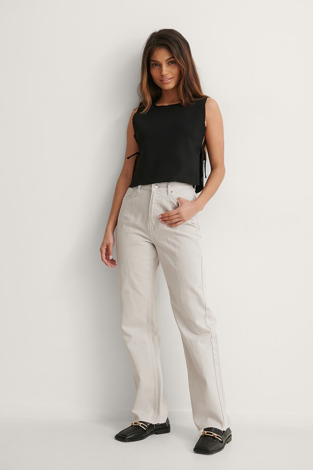 Side Tie Top Outfit