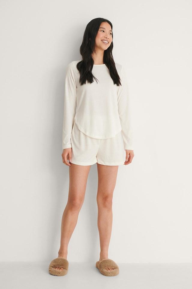 White Knitted Pyjamas Set