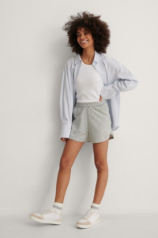 Grey Soft Shorts