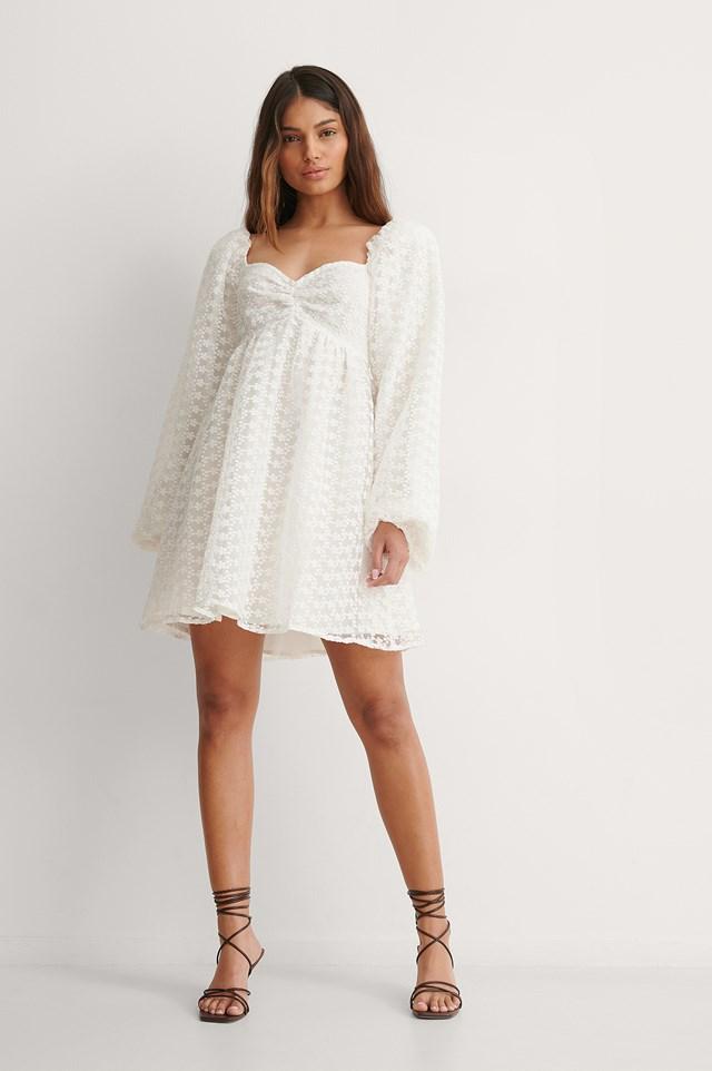 NA-KD Long Sleeve Mini Dress Outfit