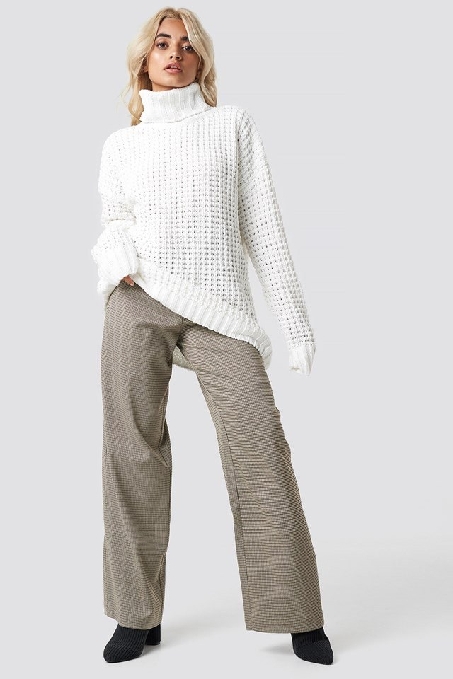 Oversized Knit and Pant Outfit