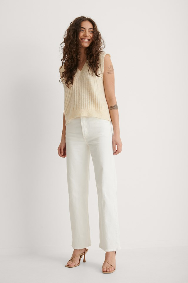 Levi's Ribcage Straight Ankle Cloud Over Outfit
