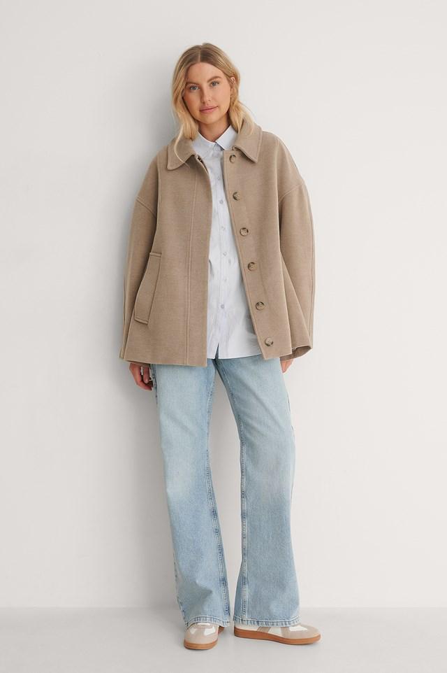 Wide Sleeve Jacket