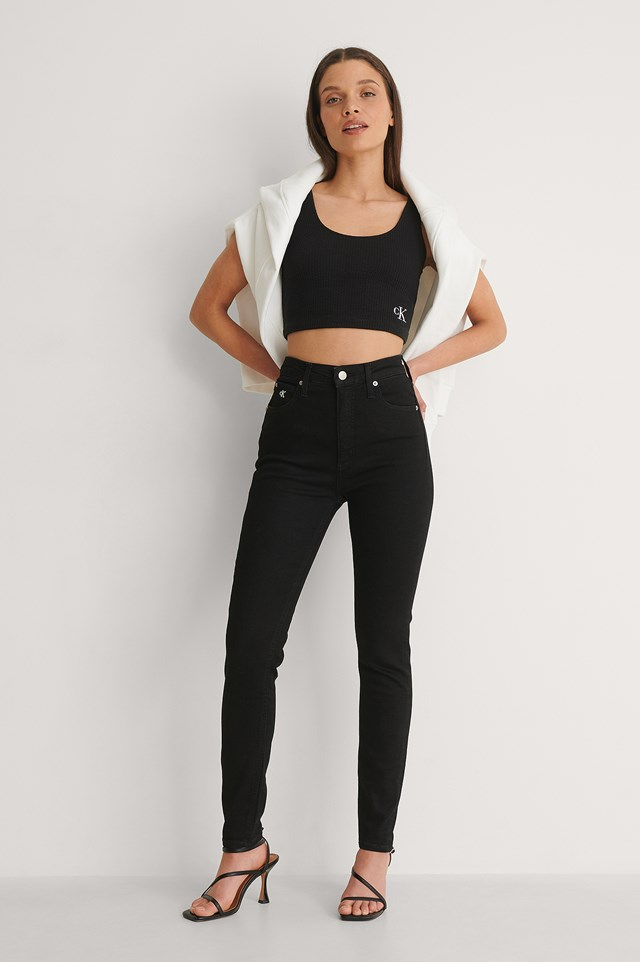 Calvin Klein High Rise Super Skinny Ankle Outfit