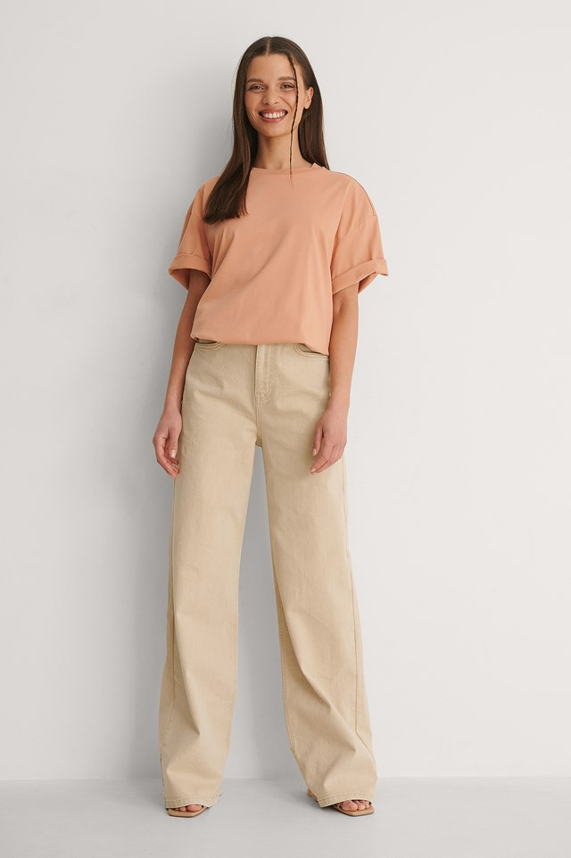 Homespun Boxy Oversized Tee Outfit.