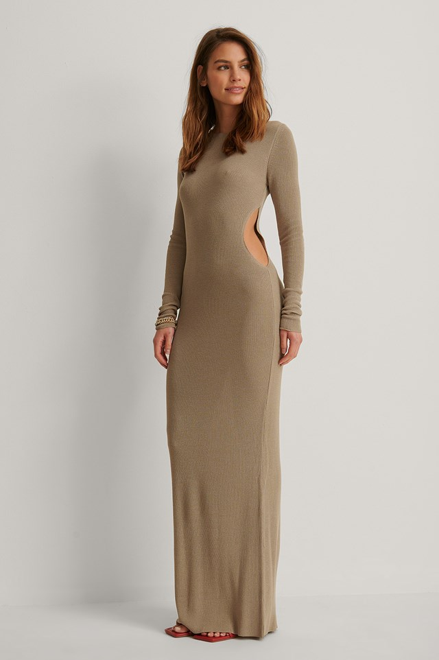 Fine Knitted Maxi Dress Outfit