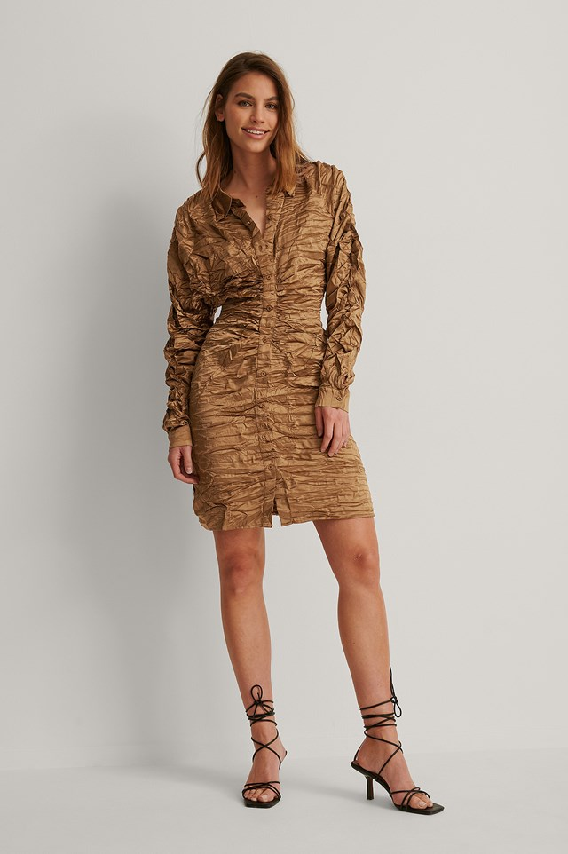 Pleated Shirt Dress Outfit