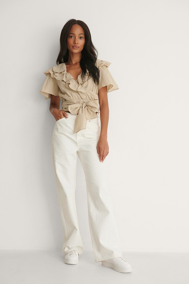 Ruffle Detail Blouse Outfit