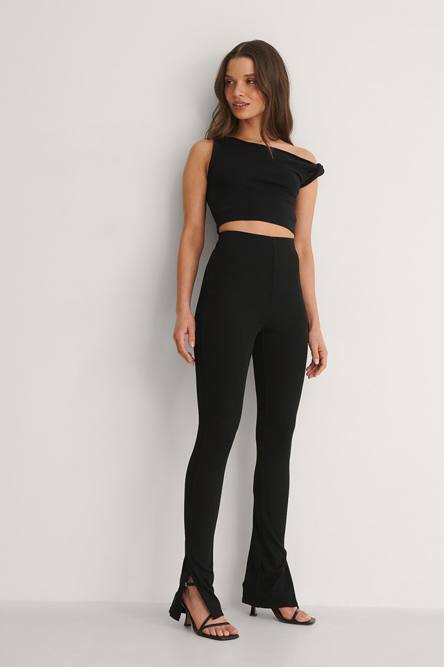 Twisted Shoulder Top Outfit