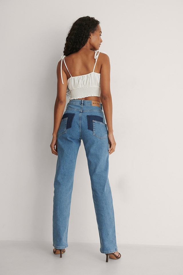 Back Detail Denim Outfit