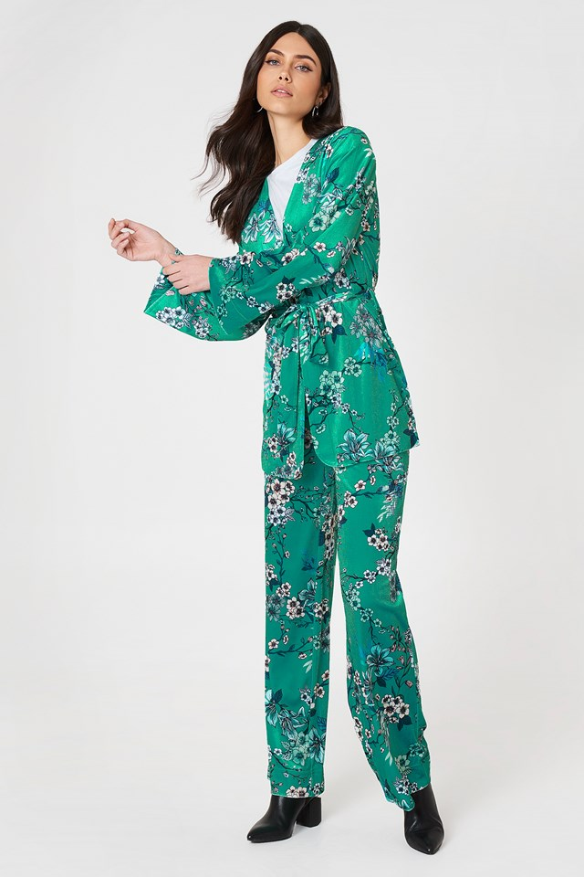 Green Belted Suit