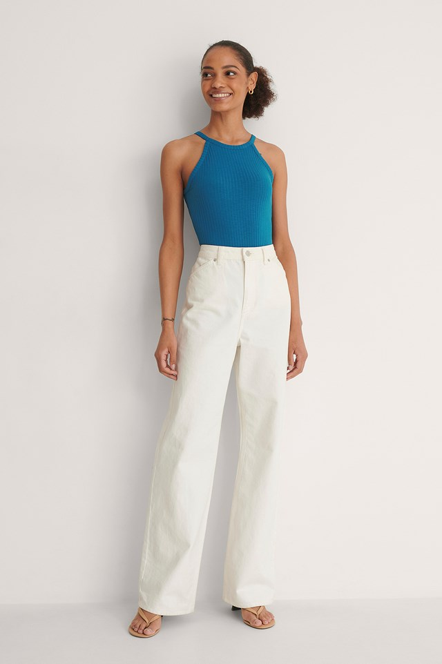 Recycled High Neck Ribbed Body Outfit