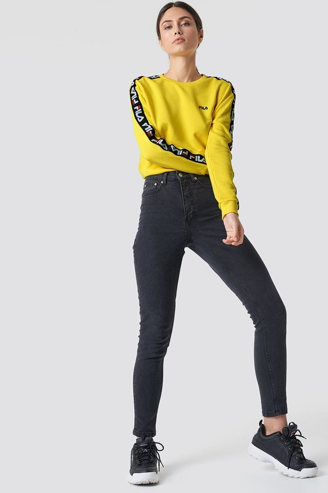 Yellow FILA Denim Outfit
