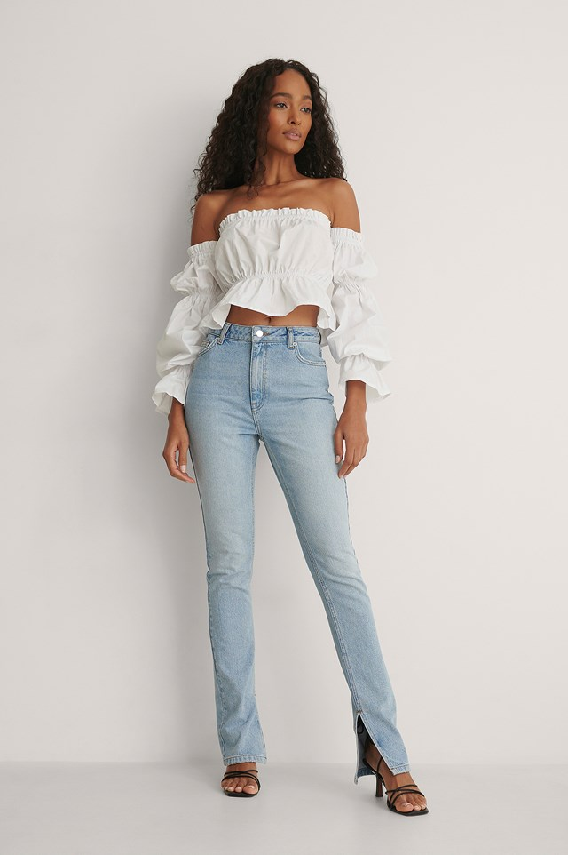 Off Shoulder Blouse Outfit.