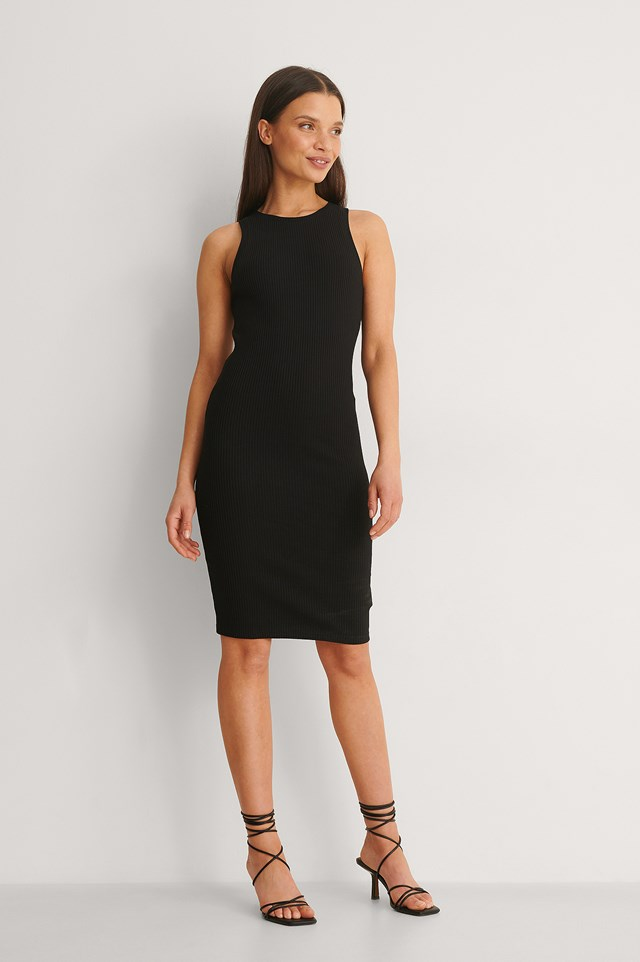 Organic Ribbed Racerback Dress Outfit.