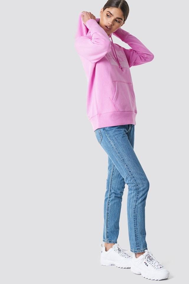 Pink Hoodie Denim Outfit