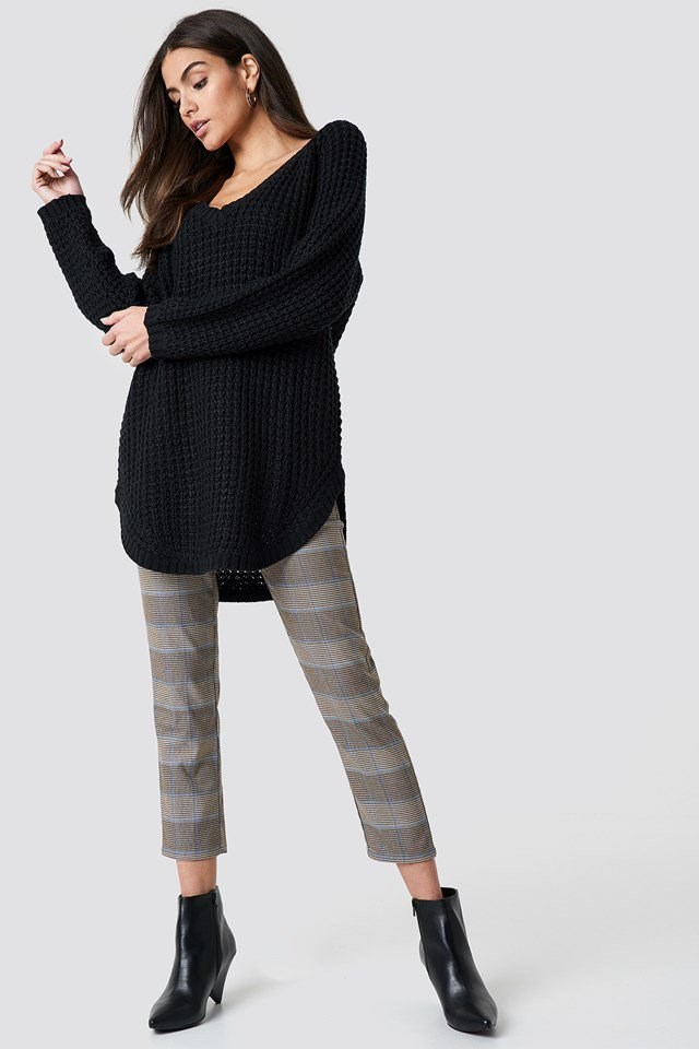 Oversized Black X Neutral Checkered Outfit