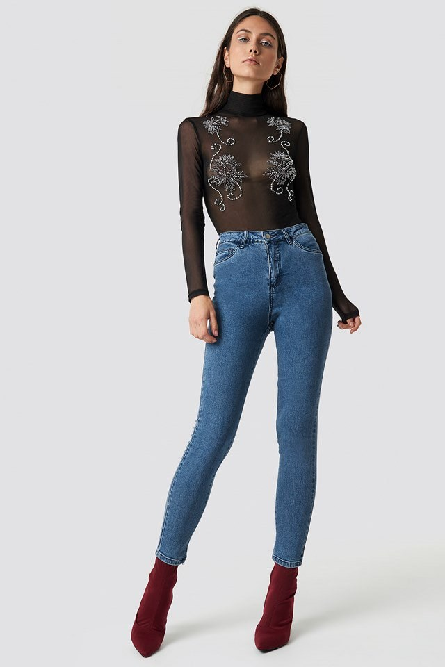 Jeans with Bodysuit Outfit.
