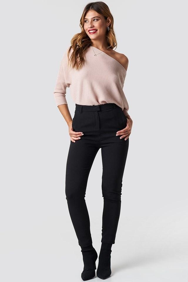 Cozy Off Shoulder Knit Outfit