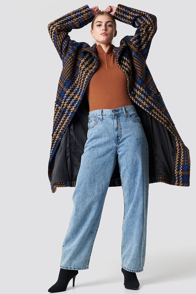 Long Statement Jacket Outfit