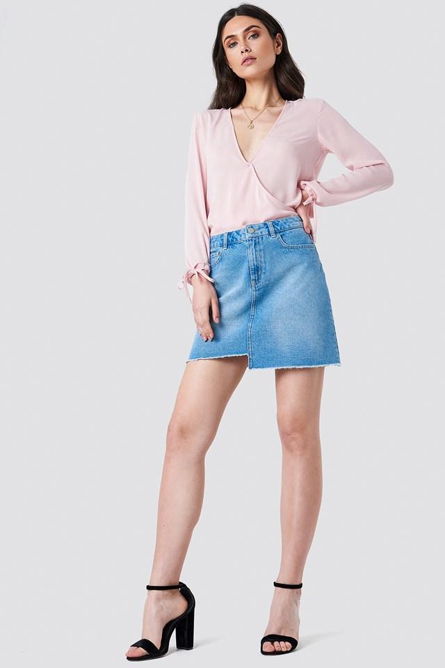 Cute Denim Skirt Look