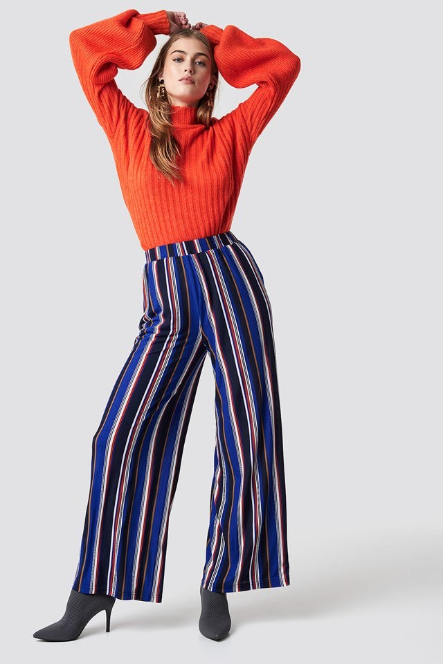 Vibrant Orange and Blue Outfit