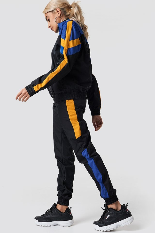 Blue Block Colored Track Suit Outfit