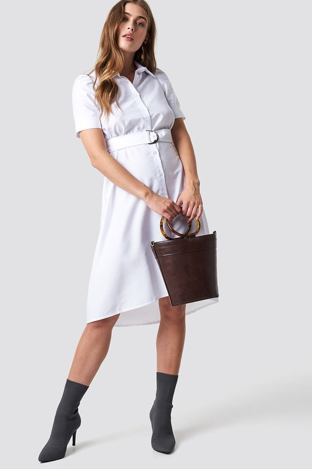 Belted Shirt Dress