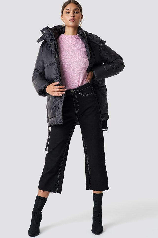 Belted Puff Jacket