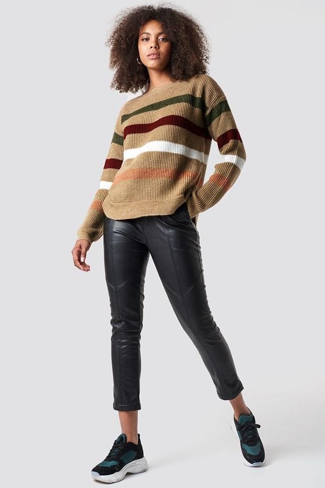 Multi Stripe Knitted Jumper