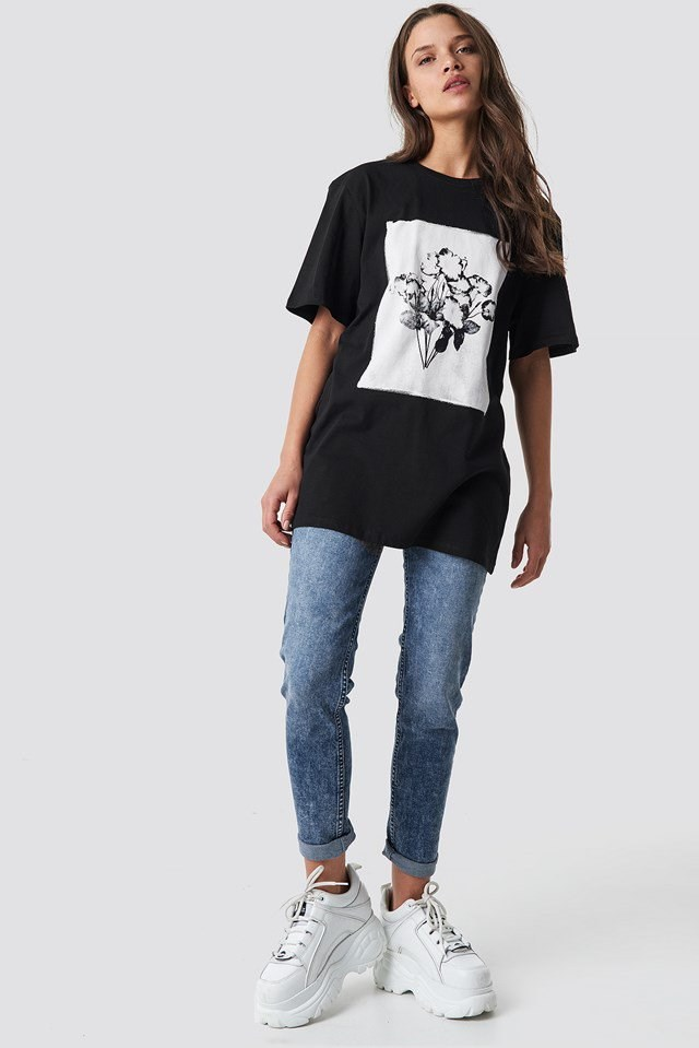 Print Oversized Tee Outfit