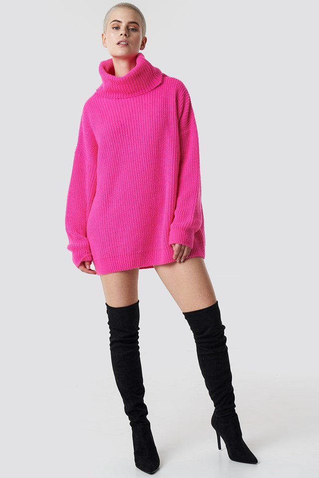 Neon Oversized Sweater Outfit