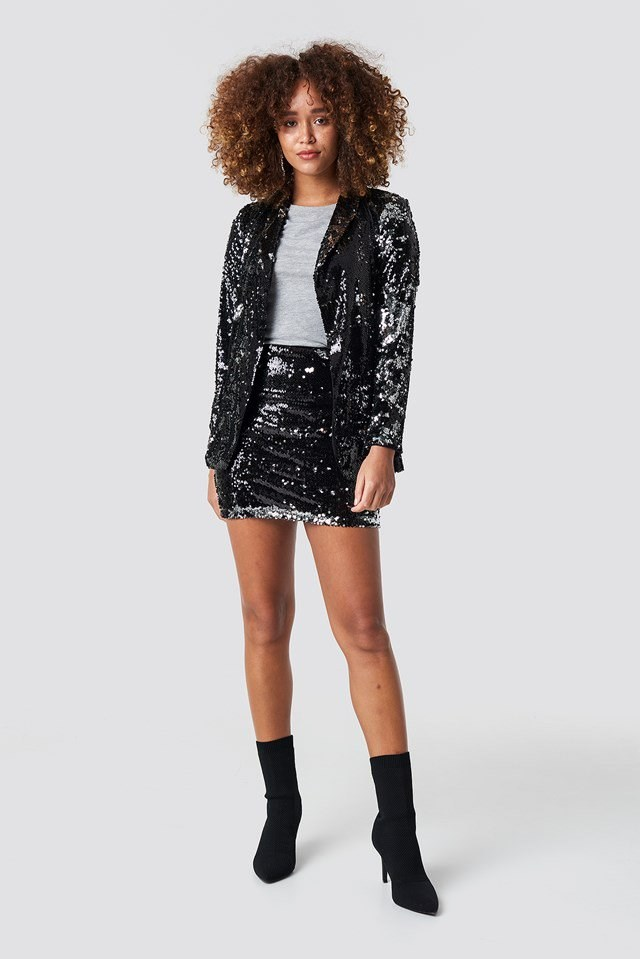Sequined Blazer Outfit